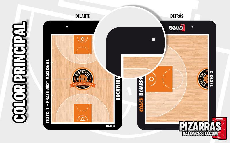 Personalizar pizarra baloncesto color principal
