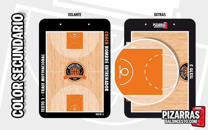 Personalizar pizarra baloncesto color secundario