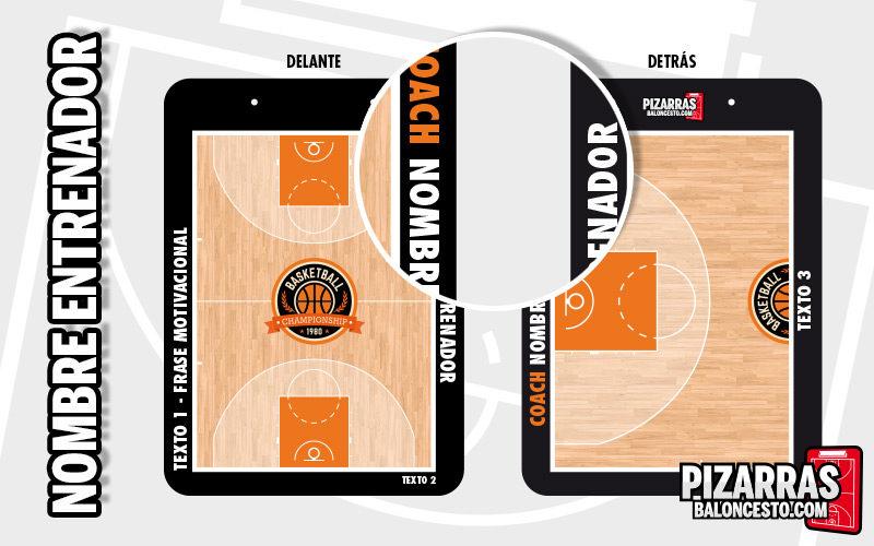 Personalizar pizarra baloncesto nombre entrenador
