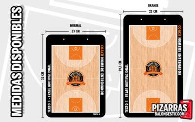 Medidas pizarras baloncesto personalizada