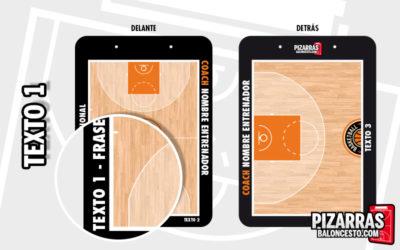 Personalizar pizarra baloncesto texto frase motivacional