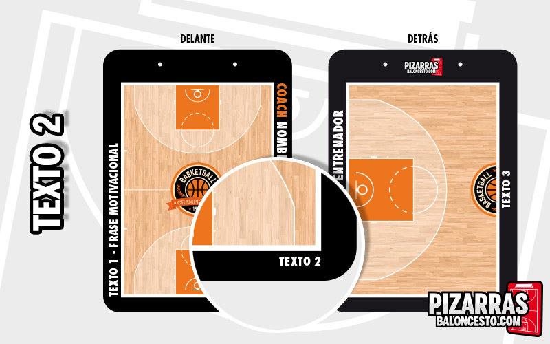 Personalizar pizarra baloncesto texto pequeño