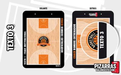 Personalizar pizarra baloncesto texto lateral