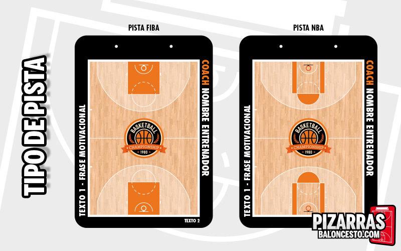 Pista FIBA o NBA pizarra personalizada basquet