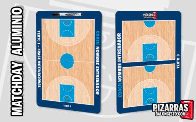 Pizarra táctica baloncesto personalizada MATCHDAY Aluminio