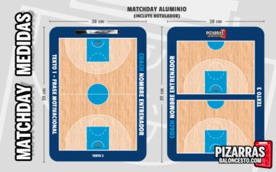 Pizarra táctica baloncesto personalizada MATCHDAY Medidas