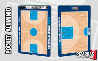 Pizarra táctica baloncesto personalizada POCKET Aluminio