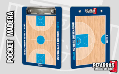 Pizarra táctica baloncesto personalizada POCKET Madera