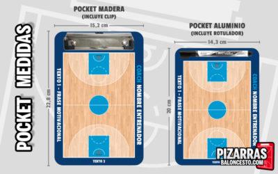 Pizarra táctica baloncesto personalizada POCKET Medidas