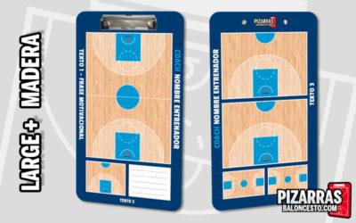 Pizarra táctica baloncesto personalizada LARGE+ Madera