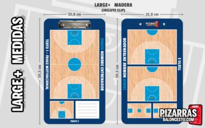 Pizarra táctica baloncesto personalizada LARGE+ Medidas